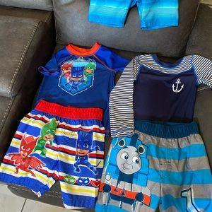 Toddler boy swimming sets